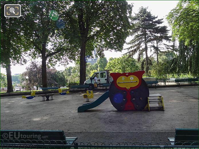 Childrens Playground Slide Inside Jardins Du Trocadero