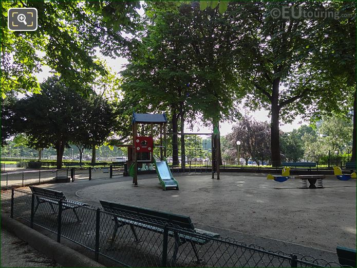 Childrens Playground Equipment At Jardins Du Trocadero