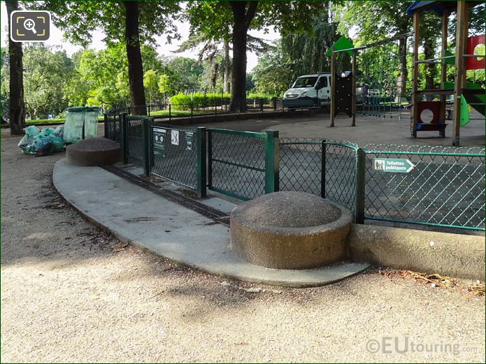 Gated Entrance For Childrens Playground In Trocadero Gardens