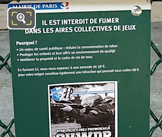 Mayor Of Paris Smoking Regulation At Childrens Playground