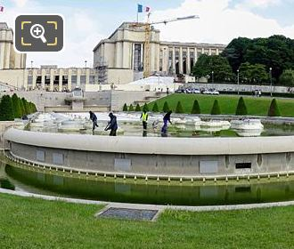 Panoramic Photo Of Water Fountains Inside Jardins Du Trocadero
