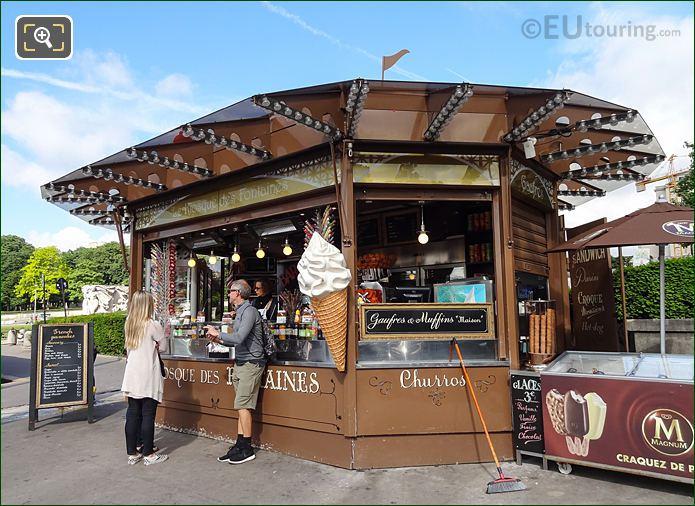 Food Kiosk Within Jardins Du Trocadero