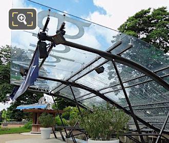 Glass Canopy Over Aquarium De Paris Entrance