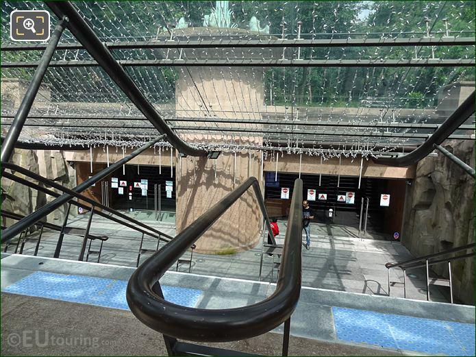 Steps And Handrails Down To Aquarium De Paris Entrance