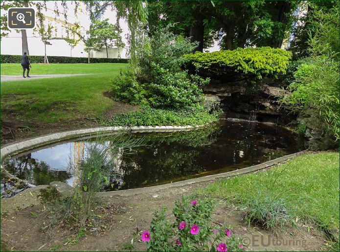 North East Pond And Stream In Jardins Du Trocadero Looking North