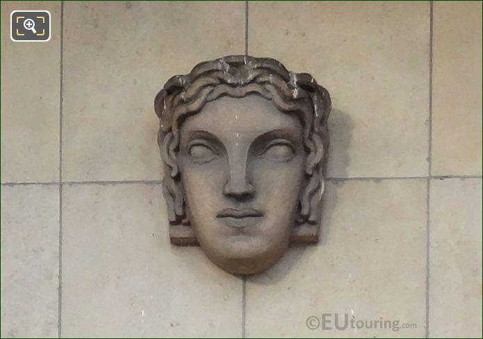 Mascaron Sculpture On South West Facade Inside Jardins Du Trocadero