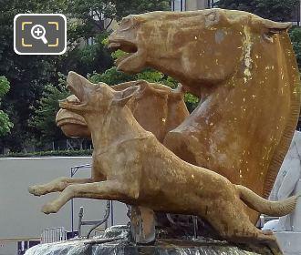 Photo Of Jardins Du Trocadero Bronze Animal Statue Group