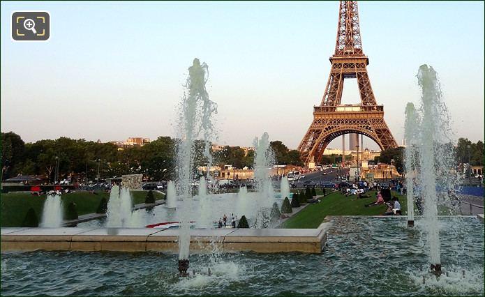 The Jardins du Trocadero