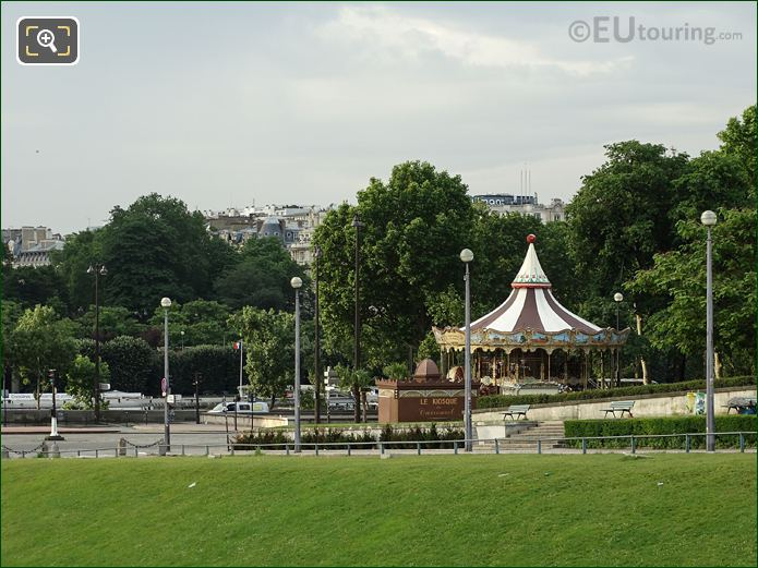 Traditional Carousel Inside Jardins Du Trocadero Looking South West
