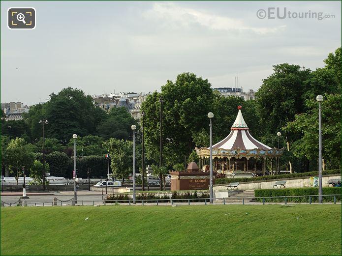 Traditional Carousel Inside Jardins Du Trocadero Looking South West