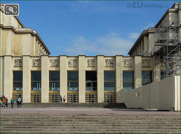 Palais De Chaillot Lower South East Facade Inside Jardins Du Trocadero