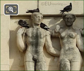 First Sculpture On Lower South East Facade Inside Jardins Du Trocadero