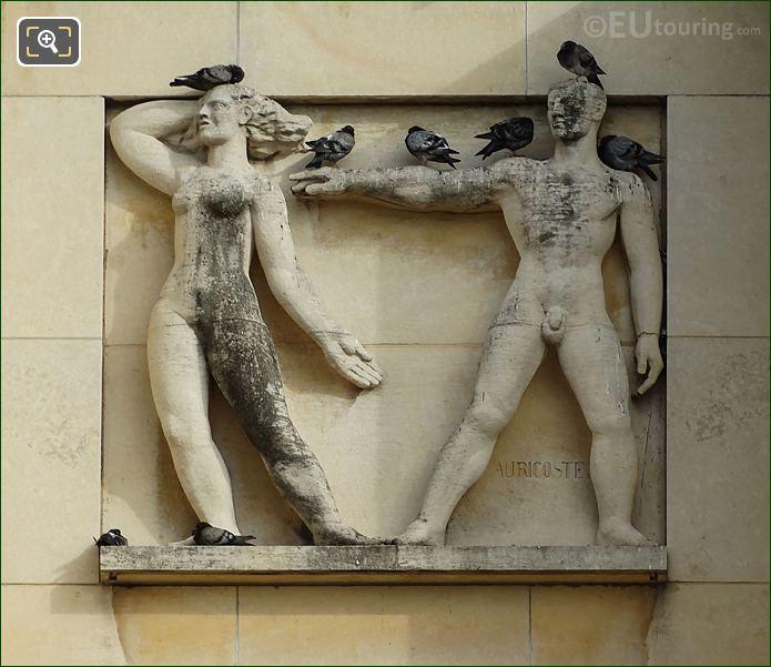 Second Sculpture On Lower South East Facade Inside Jardins Du Trocadero