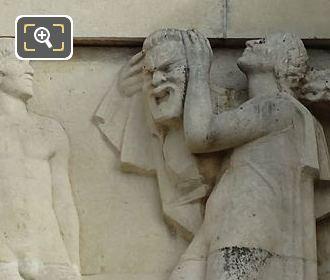 Fourth Sculpture On Lower South East Facade Inside Jardins Du Trocadero