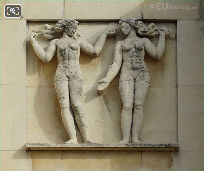 Fifth Sculpture On Lower South East Facade Inside Jardins Du Trocadero
