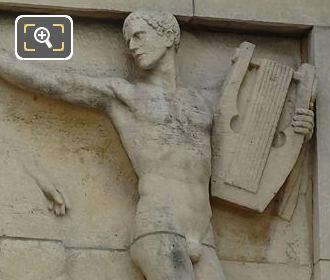 Eighth Sculpture On Lower South East Facade Inside Jardins Du Trocadero