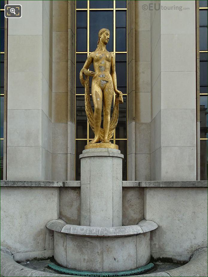 Flore Statue On South West Facade Inside Jardins Du Trocadero