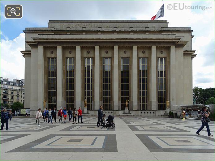 Palais De Chaillot Golden Statues On South West Facade In Jardins Du Trocadero