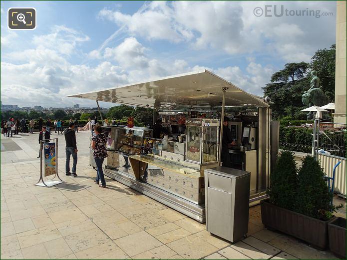 Food Stand Inside Jardins Du Trocadero Looking South
