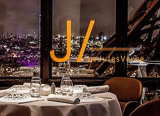 Jules Verne Restaurant At The Eiffel Tower In Paris France
