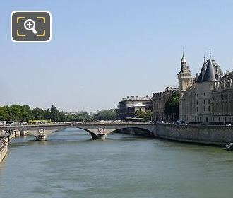 River Seine Passing By La Conciergerie