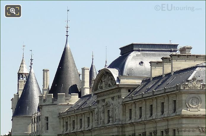 Palais De Justice And La Conciergerie Roof Tops