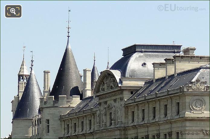 Palais De Justice And La Conciergerie Roof Tops