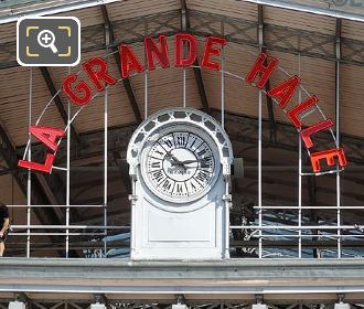 La Grande Halle Sign And Clock