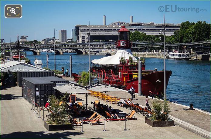 Batofar Moored Along Port De La Gare