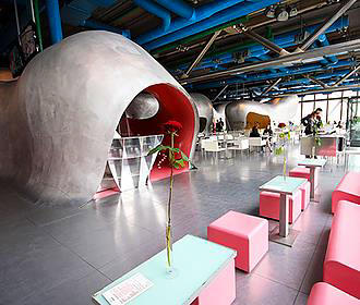 Le Georges Restaurant At The Pompidou Centre In Paris France