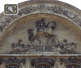 Arched Pediment At Les Invalides