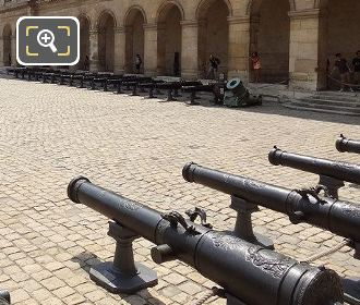 Les Invalides Cour d'Honneur With Its Cannons