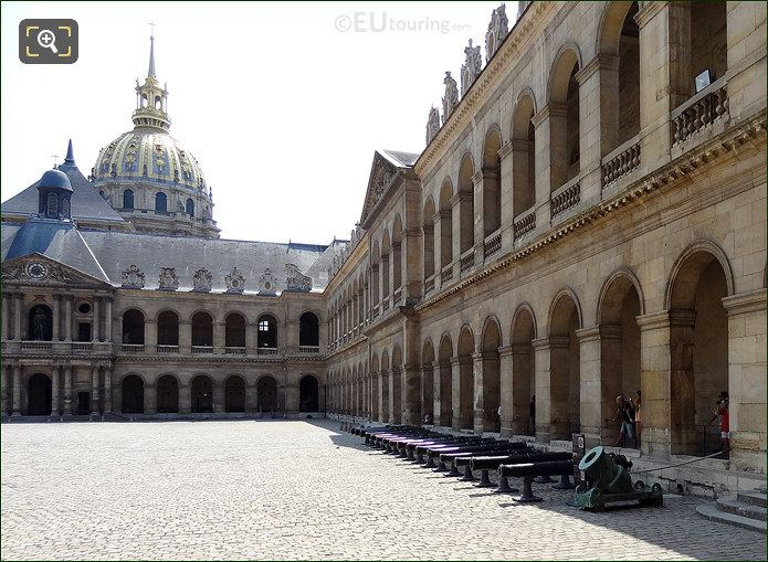 Les Invalides Courtyard West Wing