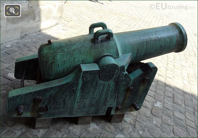 Hotel Les Invalides Courtyard Cannon