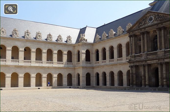 Les Invalides Courtyard South East Corner