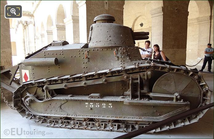 Old Army Tank At Hotel National Des Invalides