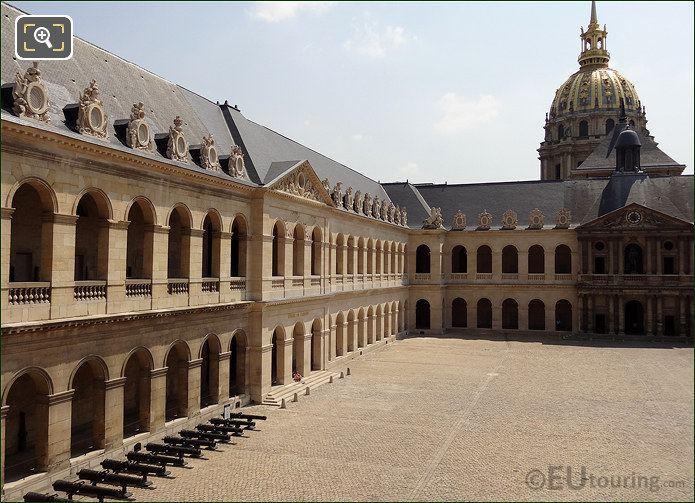 Les Invalides Cour d'Honneur East Wing