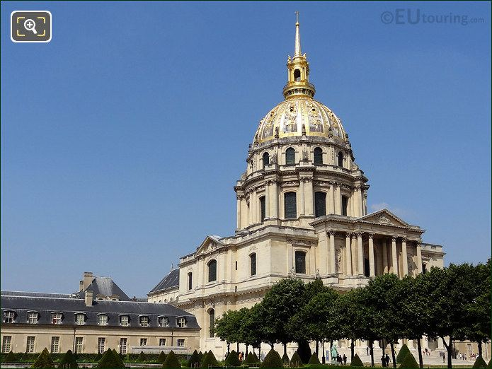 South Side Of Les Invalides With Its Royal Church