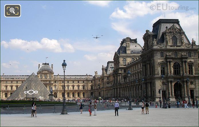 French Air Force Flying Over The Louvre