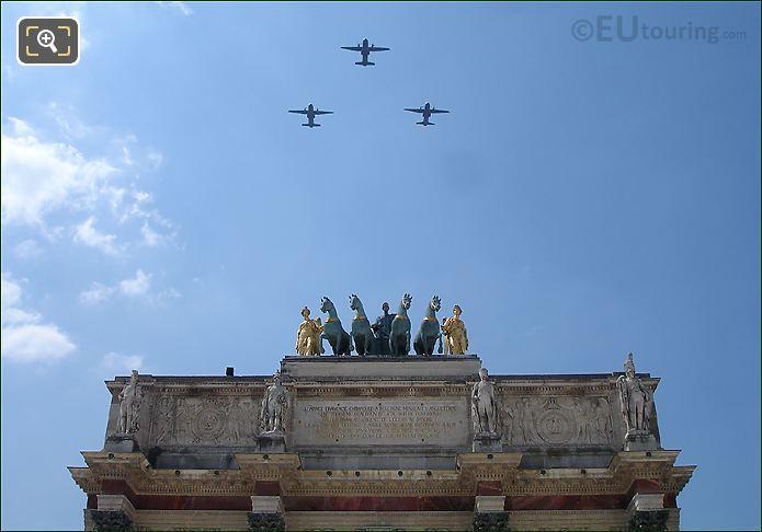C-160 Transall Planes Over Arc de Triomphe du Carrousel