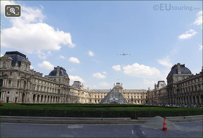 Fly By At Musee Louvre