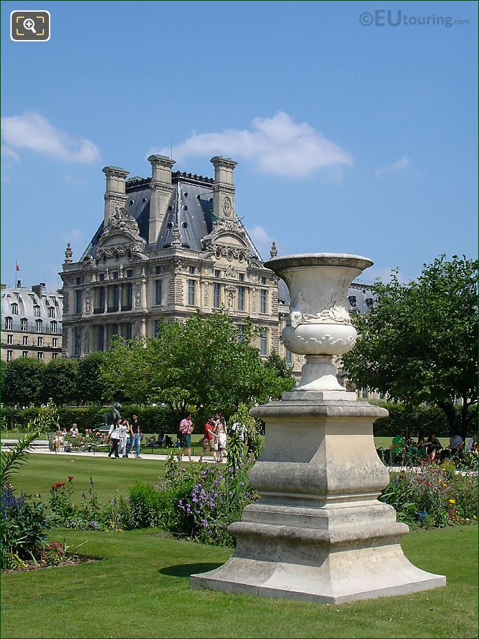 Pavillon De Marsan From Tuileries Gardens