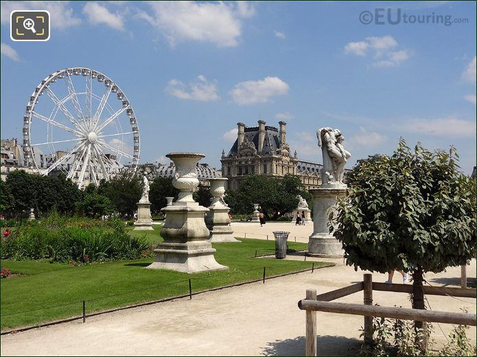 Louvre Museum And Tuileries Gardens