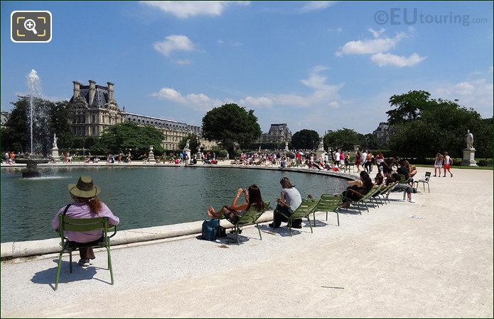 Louvre Museum With Water Feature