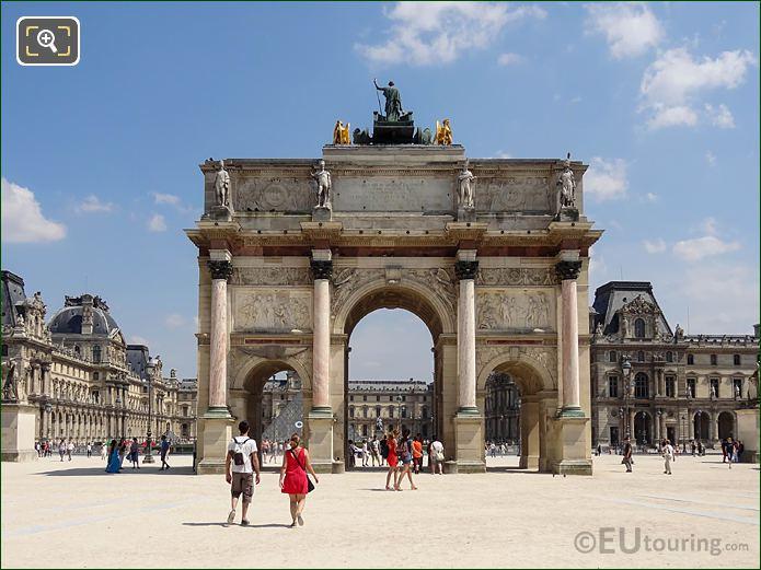 Arc De Triomphe Du Carrousel At The Louvre