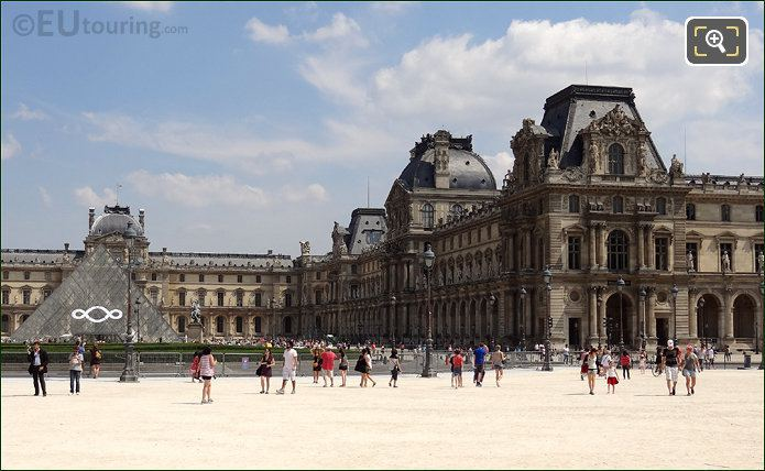Pavillon Mollien At The Louvre Museum