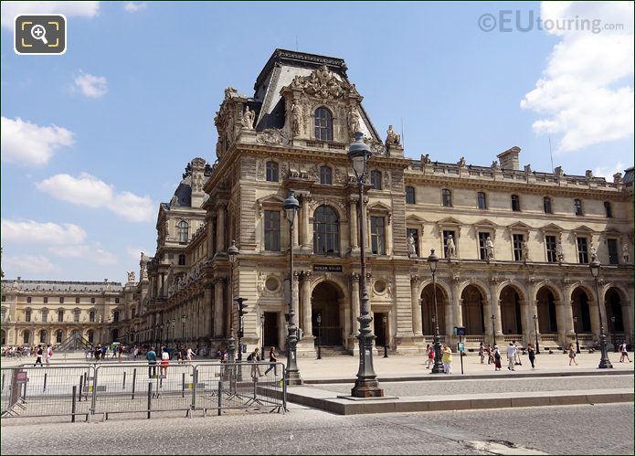 Pavillon Mollien At The Louvre Museum