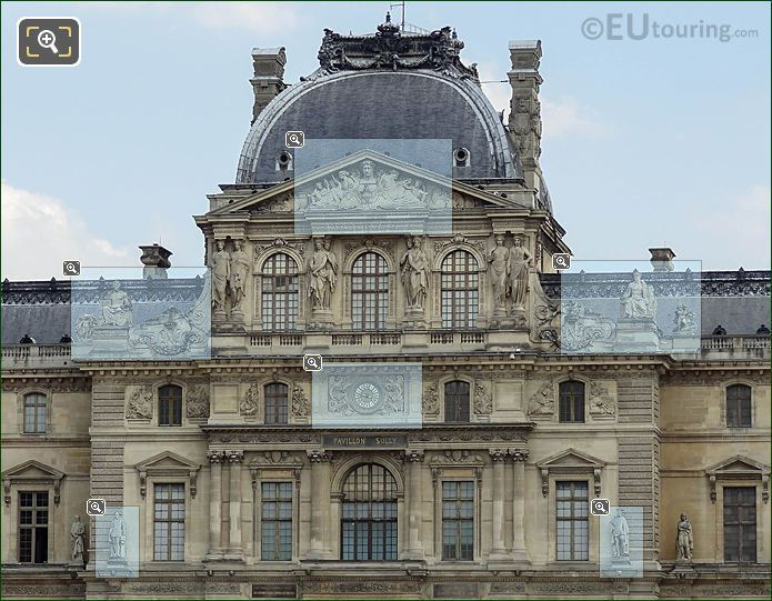 Pavillon Sully Top Floors And Statues