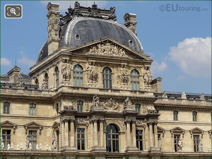 Statues On Pavillon Richelieu