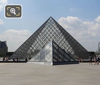 East Facades Of Pyramids At Louvre